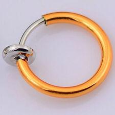 USA Seller Septum Ear Cuff Hoop Fake Nose Ring Piercing Small Body Niobium & 14k