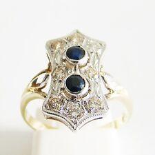 Ring Gold 585er Brillanten Saphir 14 kt Goldringe Diamant Goldschmuck Edelsteine