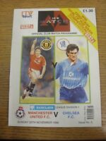 25/11/1990 Manchester United v Chelsea [Programme With 8 Page ITV Wrap Around] [