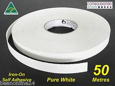 White Melamine Edge Tape 21mm x 50m Pre-Glued Iron On Veneer Edging Laminate