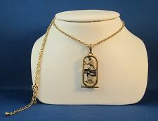 Egyptian Jewelry Eye of Horus Pewter Unisex Pendant with 24 inch chain #J284