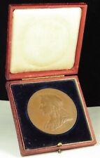1897 Queen Victoria Diamond Jubilee Medal England UK Great Britain 55 mm Bronze