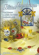 """PETIT LIVRE LOISIR CREATIF """" LA POESIE DES FLEURS"""" N°37 RICO DESIGN AMC BRODERIE"""