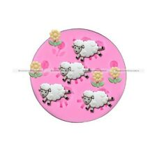 The sheep & the flowers fondant cake molds soap chocolate mould SMB