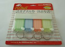 KEY ORGANIZER WITH HANGING RACK/COLOR CODED  INFORMATION TAGS (SET OF 4)