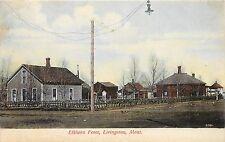 Vintage Postcard Elkhorn Fence Livingston Montana Park County MT