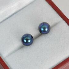 Incredible 9ct Gold & Tahitian Pearl Stud Earrings f1586