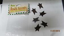 "Darice Rusty Stars 1"" 6 Pcs. # 6551-38 New"
