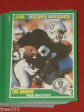 10 LOT 1989 SCORE 328 TIM BROWN RAIDERS ROOKIE CARD MNT U.S.A