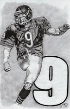 Robbie Gould of Chicago Bears sketch drawing art poster