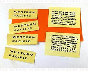 Enhorning S Decals Western Pacific Passenger Car Black