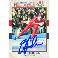 Eric Heiden Autographed 1991 Impel Marketing Card