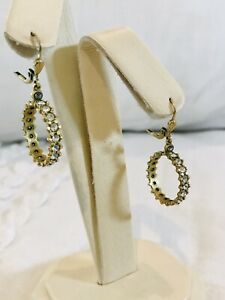 Catherine Popesco La Vie Parisienne Antique Gold Plated Crystal Earrings