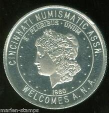 1980 CINCINNATI NUMISMATIC ASSOCIATION COVENTION ALUMINUM  38mm  MEDAL
