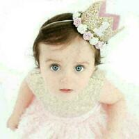Baby Girl First Birthday Party Hat Flower Princess Crown-Decor-Hair-Accesso Q2J2