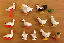 Playmobil Paquete de diferentes animales pollos/Blanco Palomas Aves Silvestres// Lote De 13