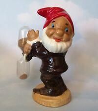 Vintage DWARF GNOME Ceramic Hourglass Kitchen EGG TIMER Not Marked Disney Rare!