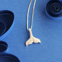 925 Silver Whale Tail Pendant Charm Mermaid Tail Necklaces for Women Jewelry
