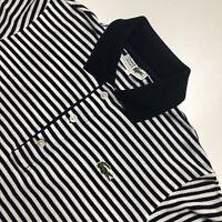 Womens Vintage Lacoste Polo Shirt Medium/40 Navy/White Striped