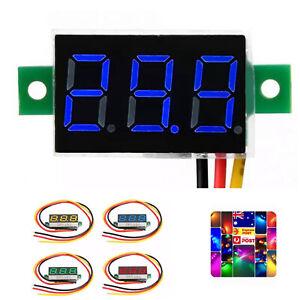 """0.28"""" DC 0-100V 3-Wire Voltage Meter Voltmeter With BLUE LED Digital Display"""