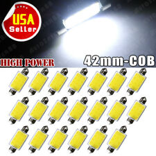20Pcs White 42MM Festoon LED COB 3W Map Dome Interior License Plate Light Bulb