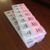 41| Pilulier-Semainier-Boîte à Pilule-Médicament-Poche-1 semaine-Médecine-santé