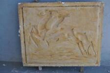 Moule ancien d'atelier de plâtrier staffeur - appliques aux biches