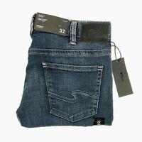Silver jeans men's blue stretch denim Allan classic fit slim leg new MSRP $79.00
