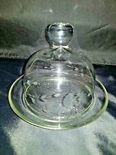 1980s Princess House Heritage Collection Crystal Round Covered Butter Dish 461