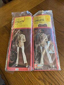 Vintage Women's Nylon Anklets Socks Suntone Size 8.5-11 Nylon 2 Pairs USA Made