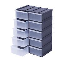 Box Kiste Sortierkasten Sortimentsbox Organizer Sortimentskasten x10