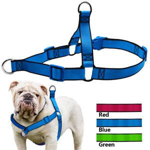 No Pull Front Leading Dog Harness Adjustable Nylon Strap for Labrador Bulldog