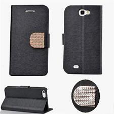 Celin Elegant Diamand Klapp Tasche für Apple iPhone 4 iPhone 4S Bling Case Black