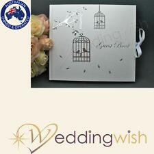 Guest Book - Love Doves - Engagement, Wedding 21st Anniversary - Bird Cage