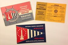 Chicago Power Squadron Roster 1963-1964 1965-1966 booklets 1964 Supplement
