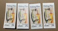 4 booklets -#BK189 Fishing Flies US COMPLETE MNH Unopened stamps