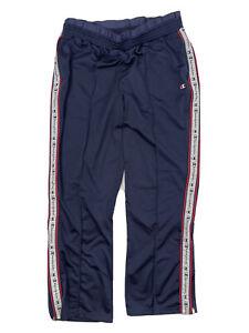 Vintage Champion Men's Track Pants Size XL Striped Logo