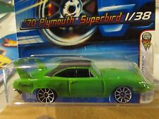 Hot Wheels '70 Plymouth Superbird #001 Green (Clear plastic dented)