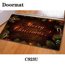 Christmas Decorations Doormat Floor Rug Anti-slip Indoor Porch Welcome Bath Mat