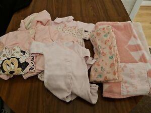 Baby Girls New Born Clothes Bundle next coat blanket