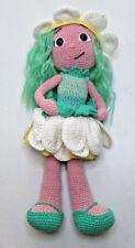 "OOAK Crochet Handmade Amigurumi Flower daisy doll 13"""
