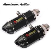 51mm Universal Motorcycle Exhaust Tip Muffler Pipe Aluminum Carbon Fiber Painted