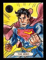 2016 DC Comics Justice League Artist Proof Vinicius Moura Sketch Card Superman