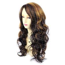 Wiwigs Long Wavy Golden Blonde & Dark Brown Mix Ladies Wig