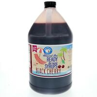 Hawaiian Shaved Ice or Snow Cone Syrup, Ready to Use, Black Cherry (128 Fl. Oz)