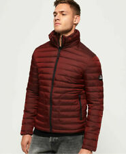 New Mens Superdry Mens Fuji Double Zip Jacket Dark Red