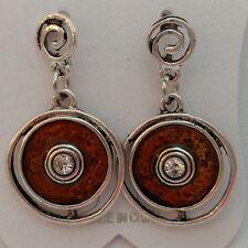 Earrings - Fancy Pewter round earrings