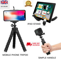 Universal Mobile Phone Tripod Stand Grip Mount For Camera Phone Holder UK Seller