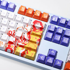 NEON GENESIS EVANGELION EVA 108 Keys PBT Keycap Set for Mechanical Keyboard New