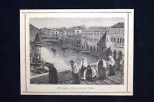 Chioggia - Quadro di Leonardo Bazzaro Incisione del 1885